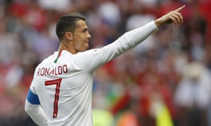 MOSCOW, RUSSIA - JUNE 20: Cristiano Ronaldo  of Portugal during the 2018 FIFA World Cup Russia Group B match between Portugal and Morocco at the Luzhniki Stadium Moscow in Russia on June 20, 2018. (Photo by Sefa Karacan/Anadolu Agency/Getty Images)