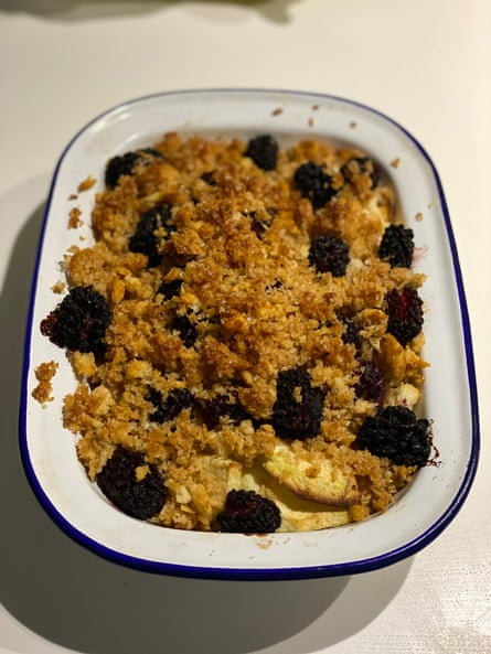 Mary Norwak's charlotte: more like a bread-based crumble.
