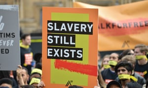 An anti-slavery protest in London at the weekend