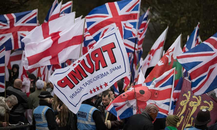 A Britain First rally in Telford
