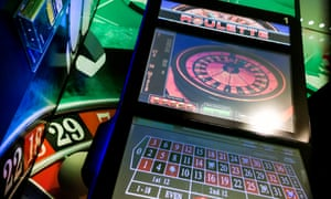 A roulette-based FOBT in a Paddy Power betting shop