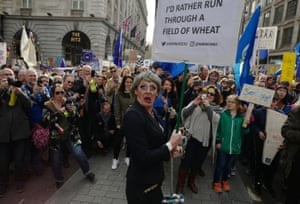 Drag Theresa May next to 'I'd rather run through a field of wheat' placard