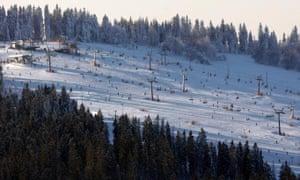Bialka Tatrzanska, ski resort, Poland.