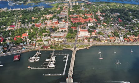 An aerial view of downtown St. Augustine, Florida, in May 2013.