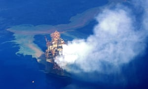 The oil leaked from a faulty rig in the Montara field