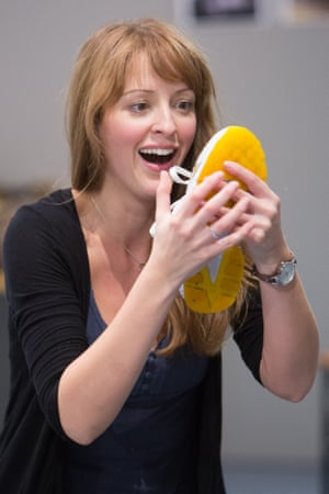 Amy Ellen Richardson (the Baker's Wife) in rehearsals for Into The Woods.