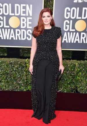Actor Debra Messing attends The 75th Annual Golden Globe Awards