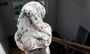 A girl at the launch of the Open Your Eyes campaign, to combat radicalisation of young people, at Saltley Academy, Birmingham.