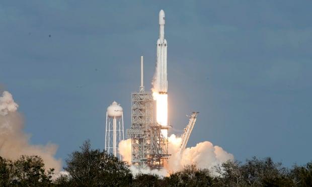 Liftoff. Photograph: Joe Skipper/Reuters