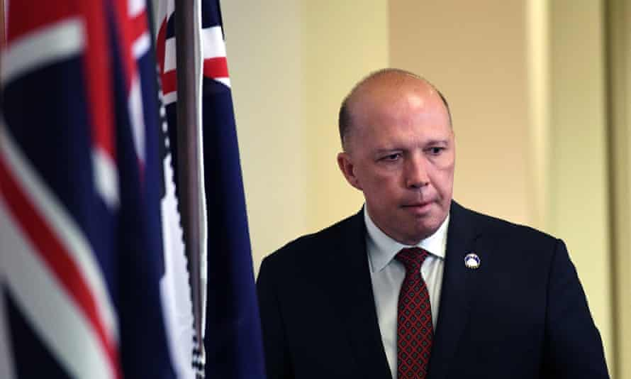 Peter Dutton at a press conference in Brisbane on Sunday.