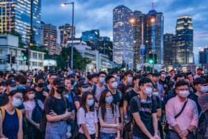Hong Kong, ChinaProtesters occupy a street demanding Hong Kong leader to step down after a rally against the now-suspended extradition bill outside of the Chief Executive Office