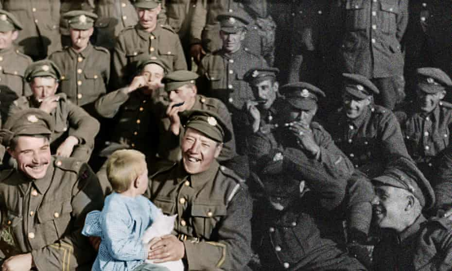 They Shall Not Grow Old features colourised footage from the archives.