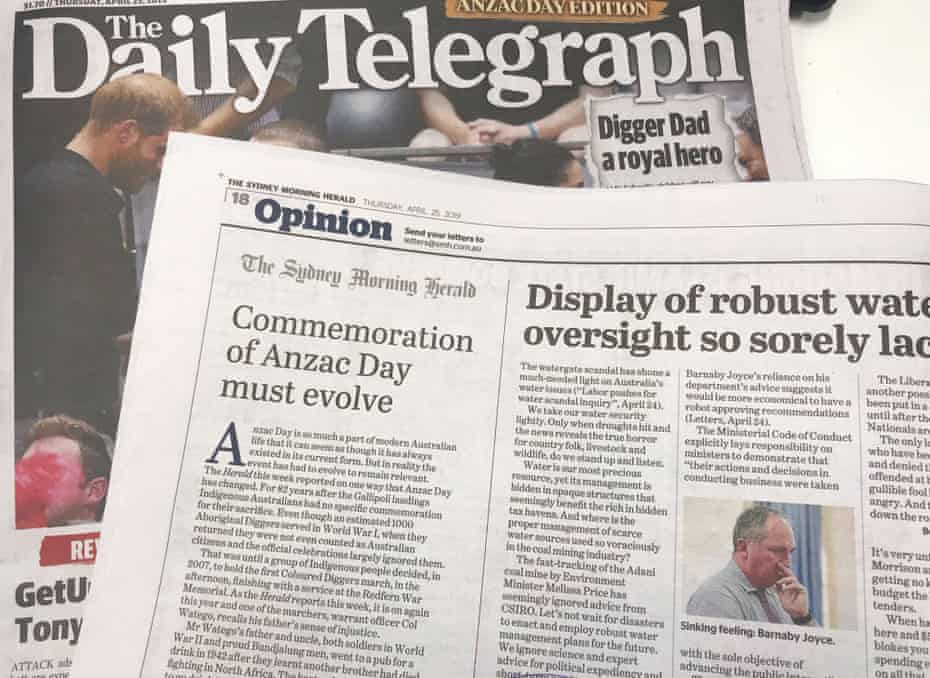 The Sydney Morning Herald opinion page, which was accidentally printed inside the Daily Telegraph