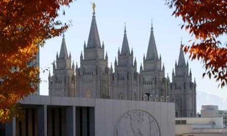 The Mormon church's Salt Lake City temple and world headquarters.