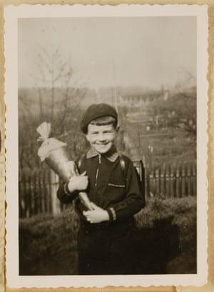 Bernd Koschland on his first school day