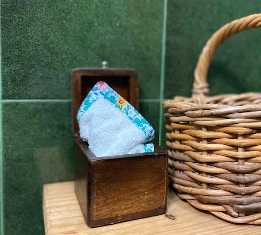A reuse-able blotter or wee wipe made by eco-sewing activist RhiRebellion