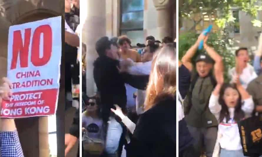 Protesters clash at Queensland University