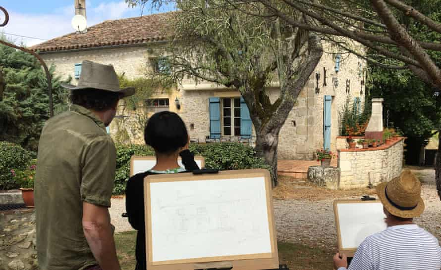 Painting holiday Bergerac France painting. GoLearnTo Holidays