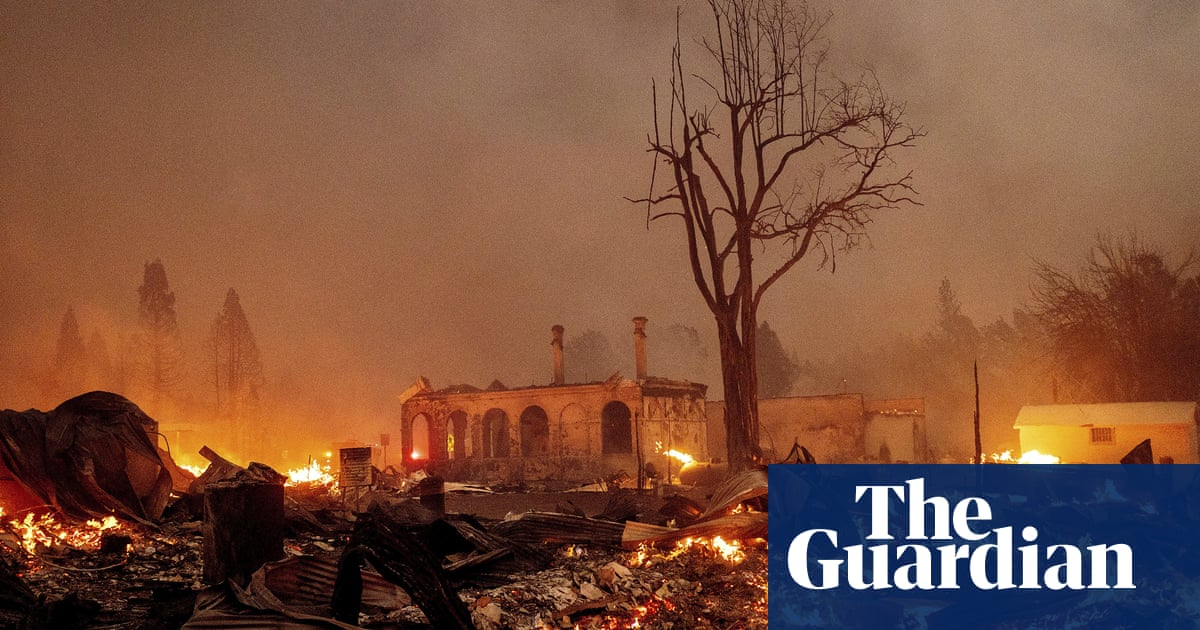 'We did everything we could': raging fire guts California Gold Rush town