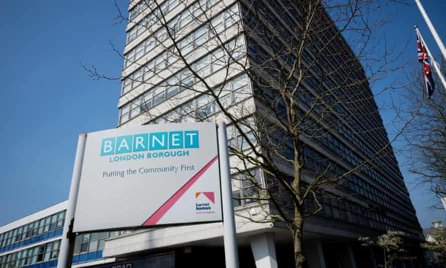 A council block at 1255 Barnet High Road