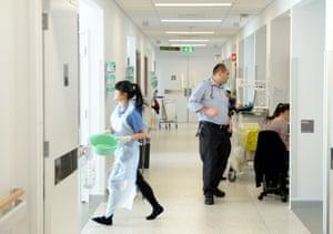 A hospital ward at Liverpool Hospital, Sydney on Tuesday