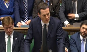 Osborne delivers his autumn statement in 2014