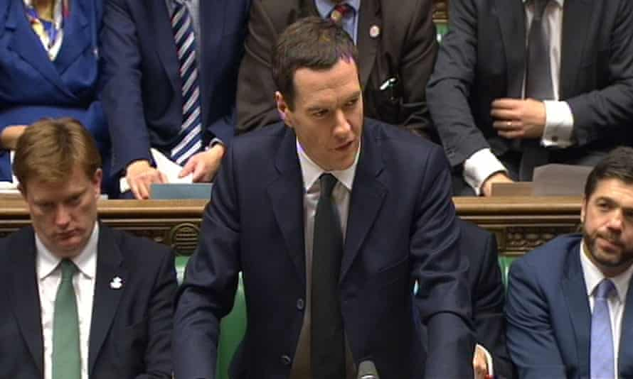 Osborne delivers his autumn statement in 2014