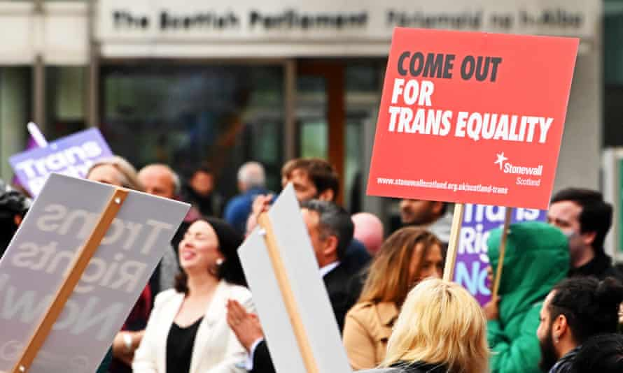 A trans rights protest