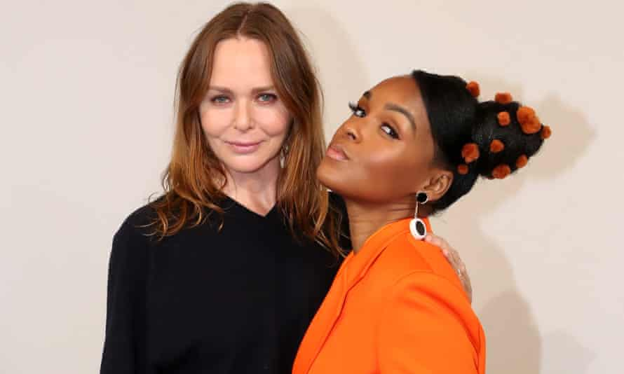 Stella McCartney with Janelle Monáe after her show on Monday