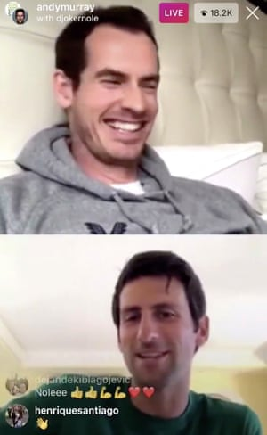Andy Murray and Novak Djokovic chat on Friday
