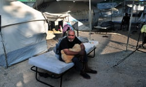 A UNHCR refugee camp in Greece.