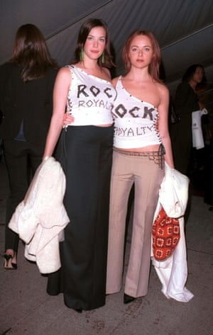 In 1999, Stella McCartney and Liv Tyler turned heads when they took the Rock Style theme into their own hands with matching one-shoulder t-shirts, emblazoned with 'Rock Royalty' from New York's East Village vintage tee outlet Filth Mart.