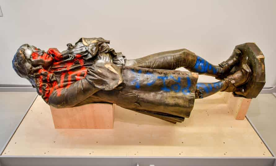 The statue of Bristol slave trader Edward Colston, which was retrieved from Bristol harbour after being toppled during a Black Lives Matter protest in June 2020, is back on display in the city's M Shed museum.