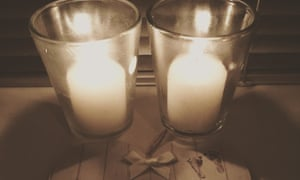 Candles lit in memory of a lost baby