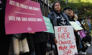 The federal, NSW, South Australia, Queensland and Western Australian governments all agree on creating safe zones around abortion clinics.