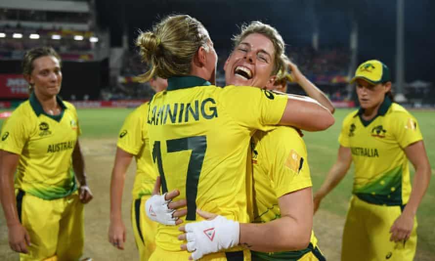 Australian cricketers Meg Lanning and Elyse Villani