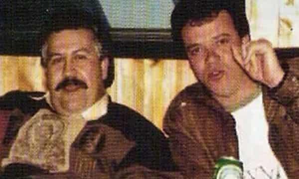 Pablo Escobar with John Jairo Velasquez, known as Popeye