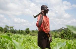 Nana Agya Kwao, chief of the farming community of Bentum in Ghana