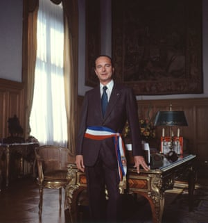 Chirac served as mayor of Paris from 1977 to 1995. Here he is in his office in September 1978