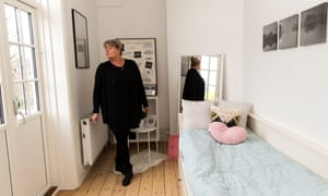 Anette Olsen, manager of Josephine Schneider's House, in a room occupied by a girl aged 13.
