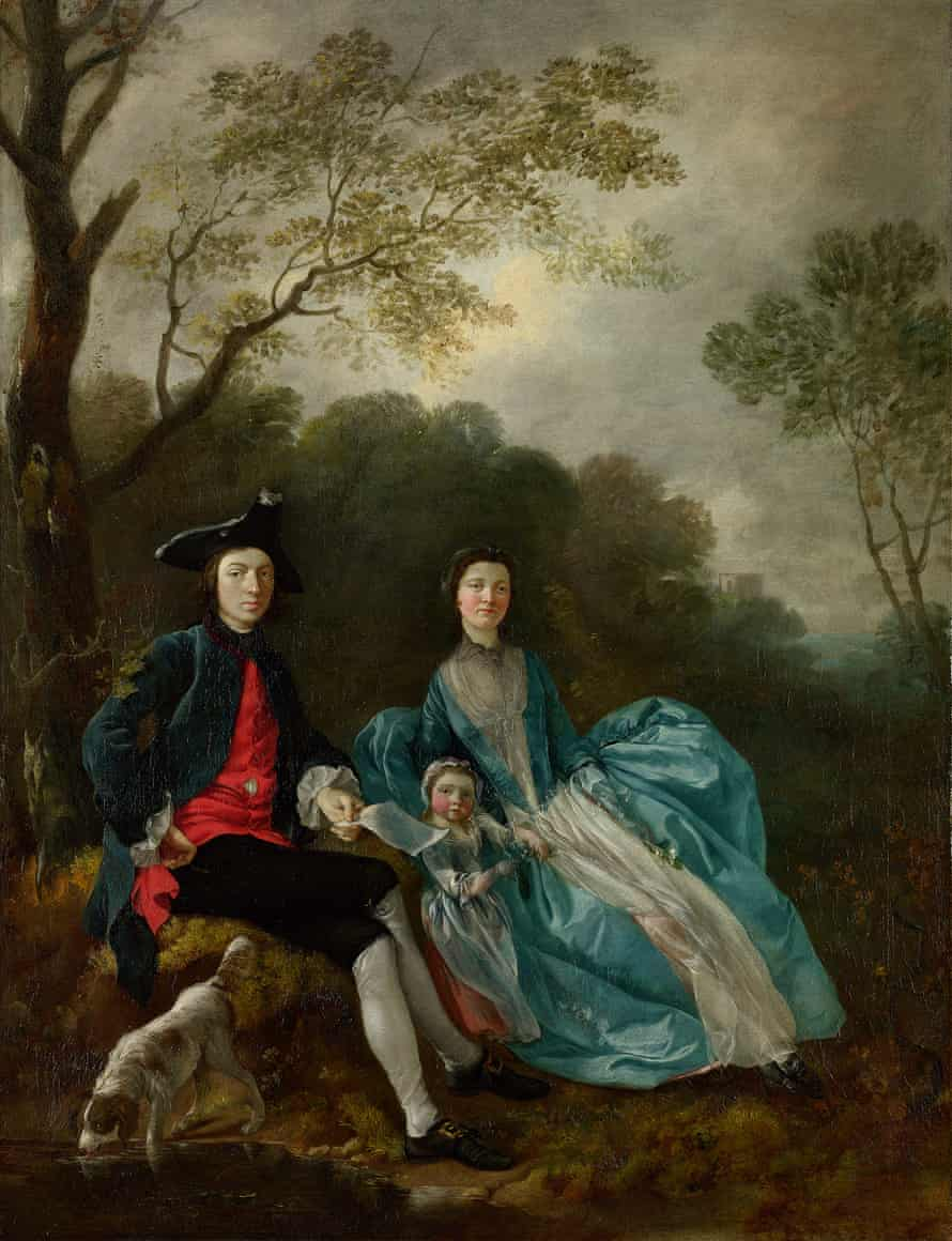 The Artist with his Wife Margaret and Eldest Daughter Mary by Thomas Gainsborough, c1748.