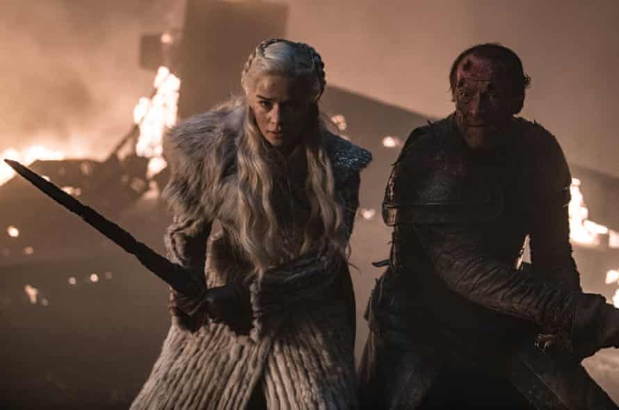 Emilia Clarke in The Long Night, episode three of Game of Thrones.