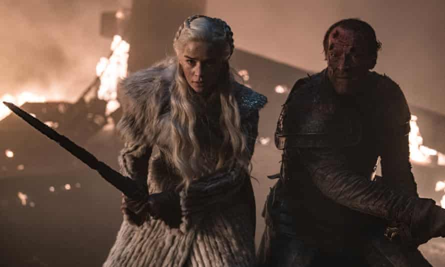 The 70th hour ... Game of Thrones' Daenerys and Jorah Mormont.