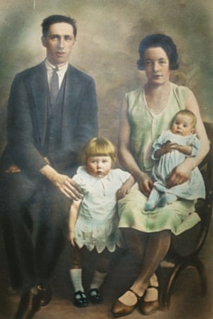 The earliest photo available of Barney Duffy. Pictured with his wife Molly and their two children, Betty and Bernard, 1929. Bernard died aged just six months.