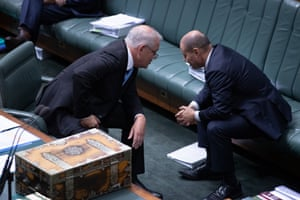 The PM confers with his treasurer