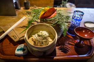 Crab miso served at Matsu  restaurant, Kyoto