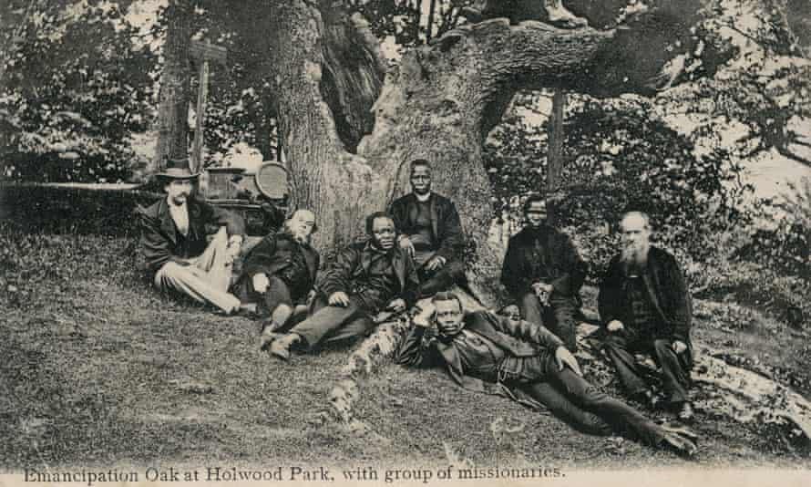 A 19th-century postcard of the Anglican bishop Samuel Ajayi Crowther from Nigeria, centre, with a group of missionaries at Holwood Park, near Keston, Kent, in 1873.