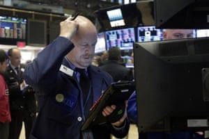 Steven GohlTrader Steven Gohl works on the floor of the New York Stock Exchange, Monday, Feb. 8, 2016. Stocks are opening broadly lower on Wall Street, putting the market on track for its second sizable loss in a row. (AP Photo/Richard Drew)