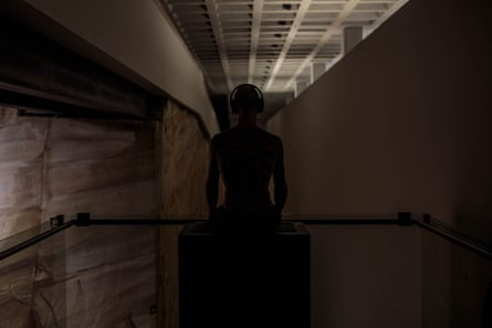 Tim, 2006, by Wim Delvoye, watching on inside the empty Mona.