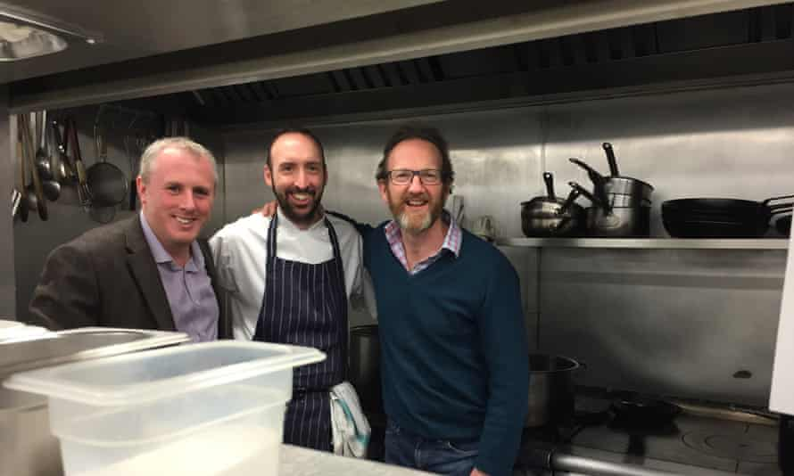 General manager Mark O'Reilly and head chef Oliver Joyce with owner of the Gallivant Harry Cragoe